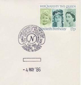 GB Stamps Souvenir Postmark Arundel Castle Cricket Club, sport, Duchess 1986