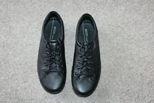 WOMENS ECCO BLACK LEATHER LACE UP SHOES SIZE 3