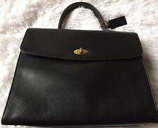 Vintage Coach Copley Madison Collection Black Leather Handbag-Made In Italy 4414