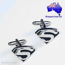 Superman Man of Steel Black and Silver Novelty Cufflinks