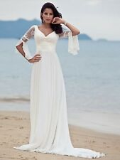 Column/Sheath Plus Size Sleeveless Wedding Dresses