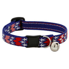 "NEW Red White & Blue America 1/2"" Cat Safety Collar (Limited Edition) Lupine Pet"
