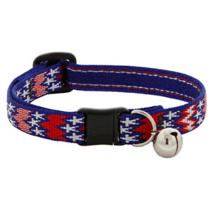 """NEW Red White & Blue America 1/2"""" Cat Safety Collar (Limited Edition) Lupine Pet"""