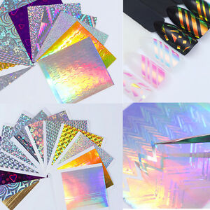BORN PRETTY Holo Laser 3D Nail Art Stickers Adhesive Ultra Thin Line Foils Decal