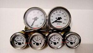 Smiths Replica Kit- Elec Temp + Oil + Fuel + Volt Gauge+Speedo+Tacho 85 mm ME