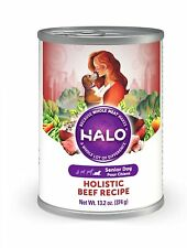 Halo Natural Wet Dog Food, Senior Beef Recipe 13.2-Oz Can (Pack Of 12) 04/20