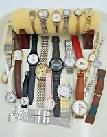 Lot of 24 Vintage and Modern Watches Parts For Repair or Crafts