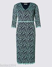 Marks&spencers per Una Plum Mix Stretch Style Wrap Dress Size 10 R( )