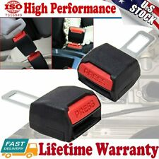 Universal 2pcs Car Safety Seat Belt Buckle Extension Alarm Stopper Extender Clip