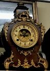 """ANTIQUE 1800'S WATERBURY CAST IRON MANTLE & WALL CLOCK MODEL """"LOUIS"""" FRENCH RARE"""