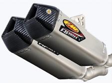 FMF Apex Dual Slip-Ons Titanium w/Carbon Fiber End Caps Suzuki Gsx-r1000 09-11