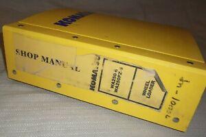 KOMATSU WA250-6 WA250PZ-6 WHEEL LOADER SERVICE SHOP REPAIR MANUAL 75001