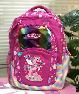 Girls SMIGGLE Rose Red Color Backpack School Bag Rucksack NEW RARE book