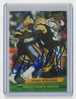 1992 PACKERS Johnny Holland signed card AUTO Fleer #130 Autographed Green Bay