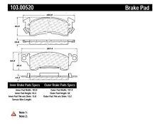 C-TEK Ceramic Brake Pads fits 1969-1989 Pontiac Firebird Bonneville,Catalina Lau