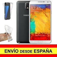 Funda Doble Transparente para SAMSUNG GALAXY NOTE 3 Gel Silicona TPU a2271