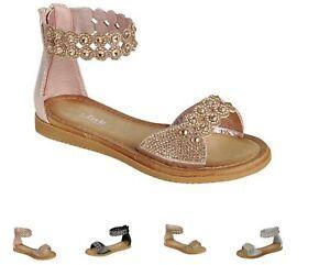 New Women Gladiator Rhinestone Sandal Strap Sandals Rose Gold , Black , Silver