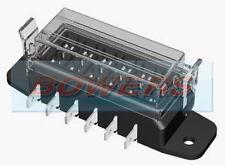 12V 24V 6 vías hoja estándar de servicio pesado Slim Caja de fusible titular Kit de coche furgoneta Marine