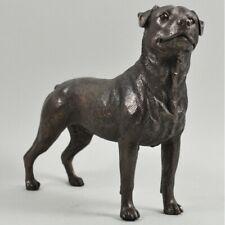 More details for rottweiler dog figure in cold cast bronze dog ornament (34068)
