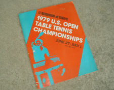 1979 US Open TABLE TENNIS PING PONG Program Collectible Advertising Vintage