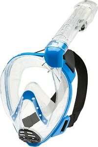 Cressi Baron - Blau (M/L) Vollgesichtsmaske zum Anti-Fog-Schnorcheln *NEU