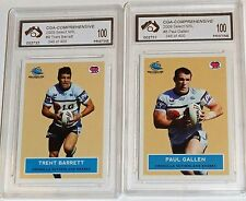 2009 Select Scanlens Retro Cronulla Team Set Graded Pristine
