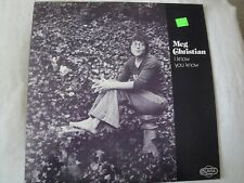 MEG CHRISTIAN I KNOW YOU KNOW VINYL LP 1974 HELLO HOORAY, SONG TO MY MAMA, EX
