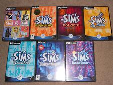 Los Sims 1 Coleccionistas Juego Base 7 paquetes de expansión Colección Bundle Pc Completa