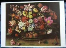 Postcard Art Jacques Linard Bouquet of Flowers - unposted