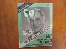 April 22, 1979 Harrisburg,  Pa. TV Host Magazine (VINCENT PRICE/TIME  EXPRESS)
