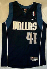 Nike Dirk Nowitzki Dallas Mavericks Sewn Jersey Blue YOUTH S basketball nba