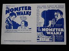 THE MONSTER WALKS 1932 * VINTAGE OLD DARK HOUSE HORROR FILM * FRANKENSTEIN RARE!