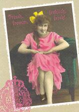 Ansichtskarte: Nostalgie: Frisch, fröhlich, fromm, frech! junge Dame