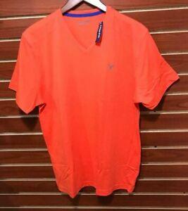 NEW Men's Performance Cotton Blend T-Shirt Running V-Neck Orange Old Navy MED
