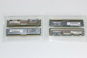 (4) 398705-051 Authentic HP 512MB PC2-5300 FBD 667 Mhz DDR2 Memory New Open Box