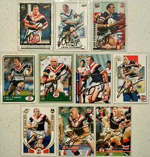 ✺Signed✺ 10 x Craig Fitzgibbon (Roosters) Lot of NRL Rugby League cards