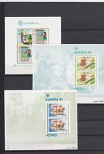 EUROPA CEPT 1981 BLOCS PORTUGAL  MADERE ACORES  NSC COTE 20€