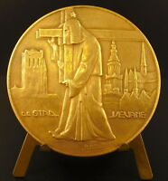 Medalla Procesión de los penitentes a Veurne Boetprocessie Stad 60mm