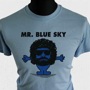 Mr Blue Sky T Shirt ELO Tribute Jeff Lynne Rock Music 100% Unofficial Parody Blu