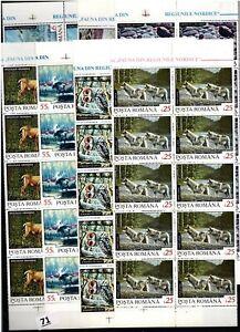 PD 10X ROMANIA 1992 - MNH - ANIMALS, BIRDS, BEAR, OWL, WOLVES
