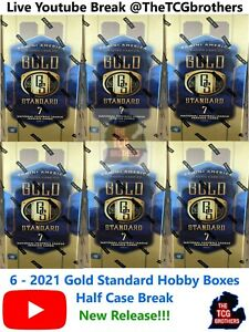 Washington Redskins Break 653 6x Gold Standard Hobby Box 1/2 Case 2021 Football