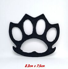 Knuckle Duster Biker black Iron Sew On Embroidered patch #971