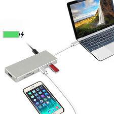 3 puertos USB Tipo C 4k HDMI 4k USB 3.0 HUB Cargador & SD Lector de tarjetas
