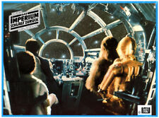 Empire Strikes Arrière Original Lobby Carte German R2D2 Chewbacca Carrie Fisher