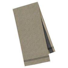 Set of 2 Design Imports BLACK STRIPE Cotton Kitchen Towels
