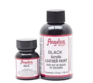 Angelus Acrylic Leather Paint - 1OZ-4OZ - Black