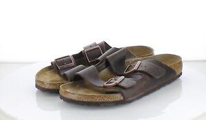 31-65 MSRP $135 Men's Sz 11  Birkenstock Arizona Oiled Leather Sandal - Brown