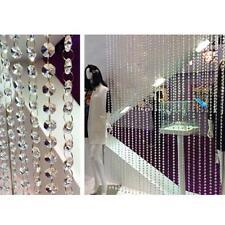 20mm Clear Crystal Octagonal Beads Crystal Chandelier Hole Prisms Bead Curtain