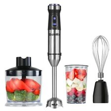 4 In 1 Handheld Immersion Blender Mixer 1100W w/ 500ml Food Chopper Beaker Whisk