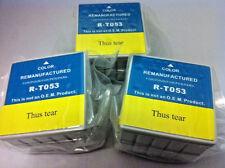 T053 Multi-Color Inkjet Cartridge for Epson Stylus Photo 750 720 700 710  3 Pack